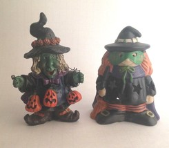 "Two Halloween Ceramic & Resin Figurines 5"" Tall Home & Office Party Deco... - £9.73 GBP"