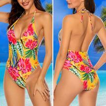 Womens One Piece Monokini Swimsuit Swimwear Beachwear Push Up Bathing Bikini image 8