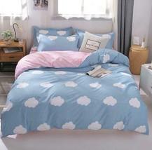 3D Cute White Cloud Blue KEP7048 Bed Pillowcases Quilt Duvet Cover Kay - $66.96+