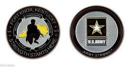 "ARMY FORT KNOX STRENGTH STARTS HERE ARMY STRONG 1.75"" CHALLENGE COIN - $16.24"