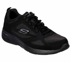 Skechers Wide Fit Black shoes Men Memory Foam Sport Comfort Casual Sneak... - $56.99