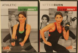 2 Cathe Friedrich Low Impact Series workout DVD lot Athletic Training Af... - $28.49