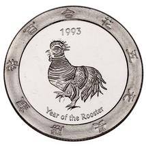 1993 Año Del Gallo .999 Plateado 1 Onza Juegos Redondo Alcachofa Joe's - $62.87