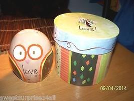 OWL Still Bank Love Gift Box New Gift Set Bird ... - $24.75