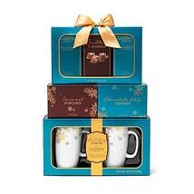 The Godiva Celebration Tower Gift Set | Contains 2 Ceramic Mugs 9 oz., G... - $38.78