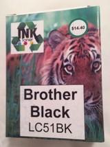 LD-LC51BK Black Ink Cartridge Sealed Pack (Brot... - $9.79
