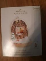 Disney Hallmark Winnie The Pooh Piglet Lucky Star Ornament Magic Christmas - $39.55