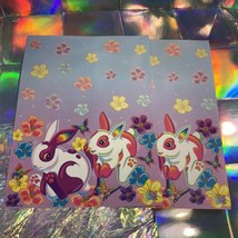 Vintage Lisa Frank Easter Bunny Stationery Sheets (2 Sheets) Unmarked image 1