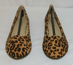 Anna Truman 1 Loepard Print Suede Womens Flats Size 5 And Half image 2