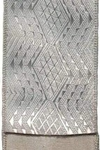 Luxury Ribbon 3.25 Inches Wide Platinum Jacquard - $67.63