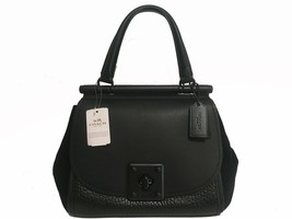Coach Leather & Suede Drifter Handbag Black - $437.58