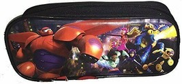 Big Hero 6 Pencil Pen Bag Case Pouch Cosmetic Bag Disney Hamada Baymax Black Nwt - $5.93