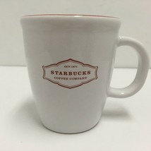 Starbucks 13 oz. Christmas 2006 Coffee Mug Cup White w Red Graphic and Inside. - $12.19