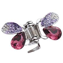 Butterfly Hair Claw Hair Styling Clip Small Size Claw/Hairpin(Purple)