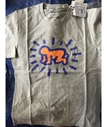KEITH HARING Gray Orange MoMA Limited Edition Uniqlo T-Shirt SMALL or ME... - $49.99