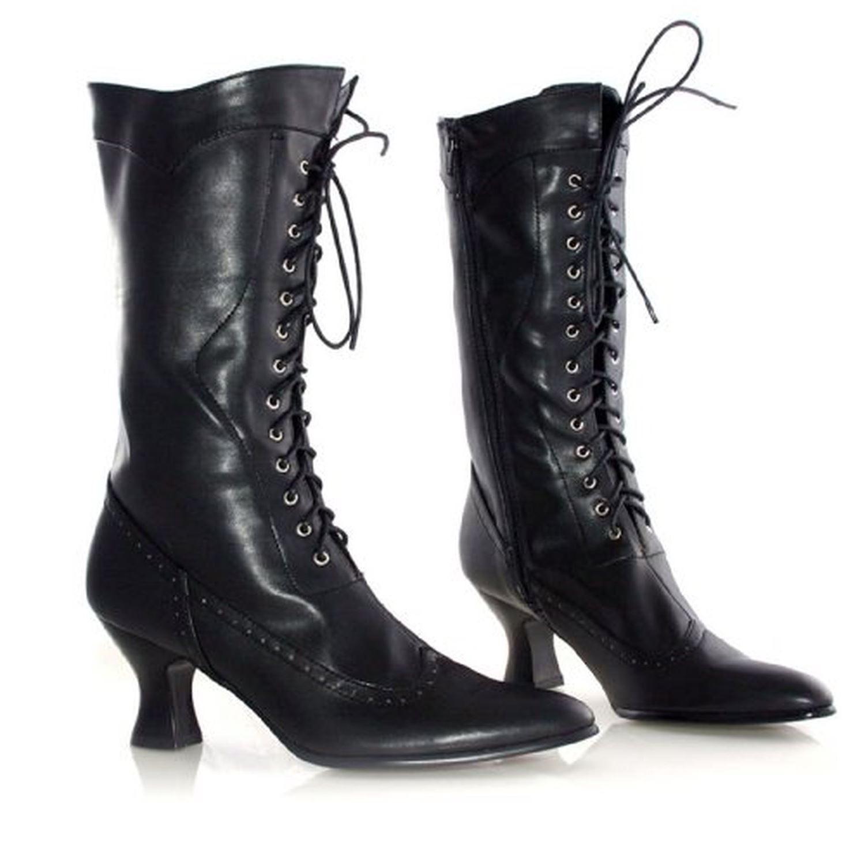 Ellie Shoes Amelia Victoriano Gótico Steampunker 6.3cm Zapatos de Tacón Botas