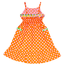 Always Kids Girl's Orange Dot Lexi Dress - $28.00