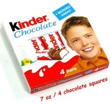 Kinder Chocolate 7 oz (4 pcs) Milk Chocolate with milk filling - $14.10