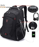 Tzowla 17.3 InTravel Laptop Backpack Anti-Theft Water Resistant Business... - $50.11