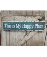 This is My Happy Place Metal Sign Vintage Style Embossed Sign - $29.69