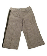 Womens Gray ANN TAYLOR LOFT Capris 8 X 20 1/2 Rayon Wool Blend - $7.59