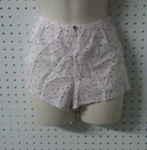 New Victoria Secret Pink Cotton Sleep or Lounge Shorts with Tiny Hearts ... - $19.75