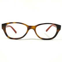 Tory Burch Oval Tortoise Brown Red Thin Eyeglasses Frames TY2031 1162 135 - $42.08