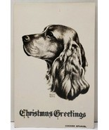 Christmas Greetings COCKER SPANIEL by Walter Edward Blythe Postcard C4 - $39.95
