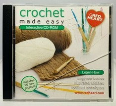 Red Heart Crochet Made Easy Interactive CD-ROM Windows/MAC CD105 - $8.19