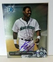 2017 Bowman Chrome KYLE LEWIS Signed Card #BCP125 Seattle Mariners BA135 - $33.24