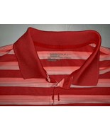 Nike Golf Polo Red Stripe FitDry Short Sleeve Shirt Mens Large Swoosh NW... - $20.90