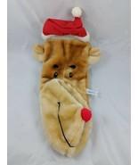 "Reindeer Plush Christmas Stocking Sack 17"" Echiverri  & Co - $15.38"