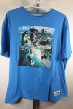 Lebron James Nike Graphique T Shirt Sz 2XL XXL Bleu Coupe Standard C50 - $32.88