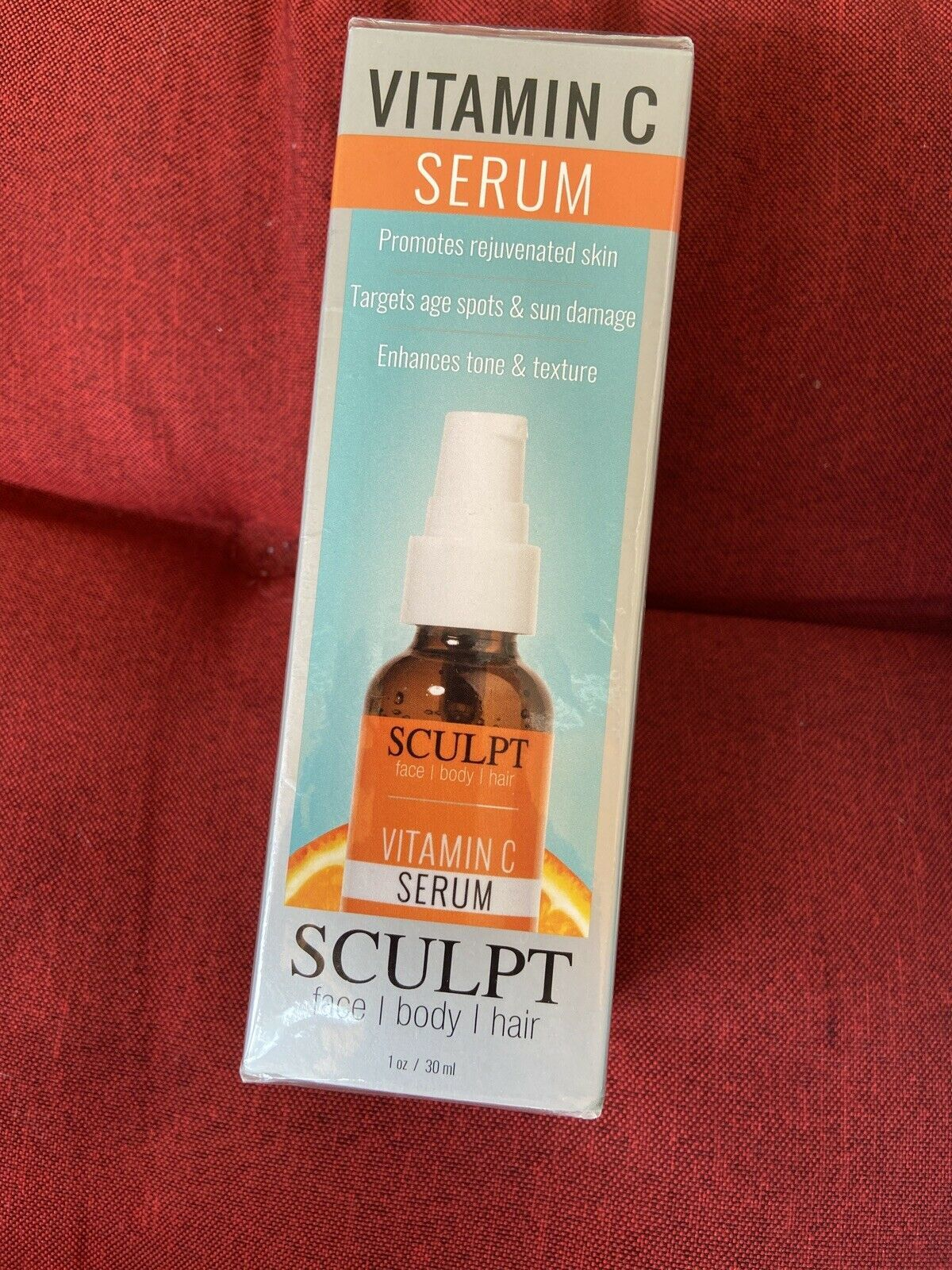 Primary image for SCULPT FACE VITAMIN C SERUM Anti-aging Hyaluronic Acid SEALED 1 oz / 30 ml NEW