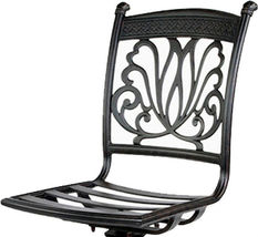 Outdoor Bar Stools Set of 4 Swivels Seat Cast Aluminum Patio Furniture Sunbrella image 3
