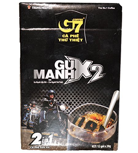 Primary image for Trung Nguyen G7 Coffee Gu Manh X2, Ice Coffee, 12x20grams