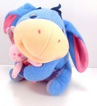 Fisher Price Disney My First Eeyore Holding Pink Bunny Plush Baby Rattle... - $13.85