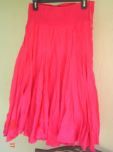 NEW CHELSEA & THEODORE PINK COTTON FLARE SKIRT  SIZE M - $24.99