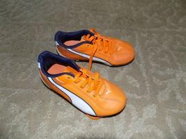 Youth Puma Esquadra Fg Size 11Y Orange White Black Soccer Cleats - $16.00