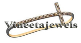 Cross Vintage Inspired .925 Sterling Silver 2.60Ct. Rose Cut Diamond Bracelet - $573.96