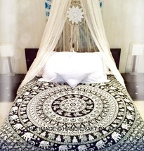 Hippie Elephant Mandala Tapestry Indian Wall Hanging Twin Bedspread Dorm... - $256,32 MXN