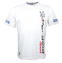 Peugeot Sport White Short Sleeve Cool T Shirt Auto Car Graphics Tee - $24.75
