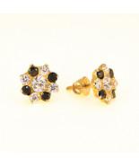 21k Gold stud earrings screw back Indian Gold zirconia Uk BHS - $191.95