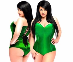 Daisy Corsets Green Satin Romper and Corset ~ Plus Sizes and Misses - $85.00+