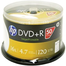 Hp 4.7gb Dvd+rs, 50-ct Printable Spindle HOODR16WJH050 - $30.12