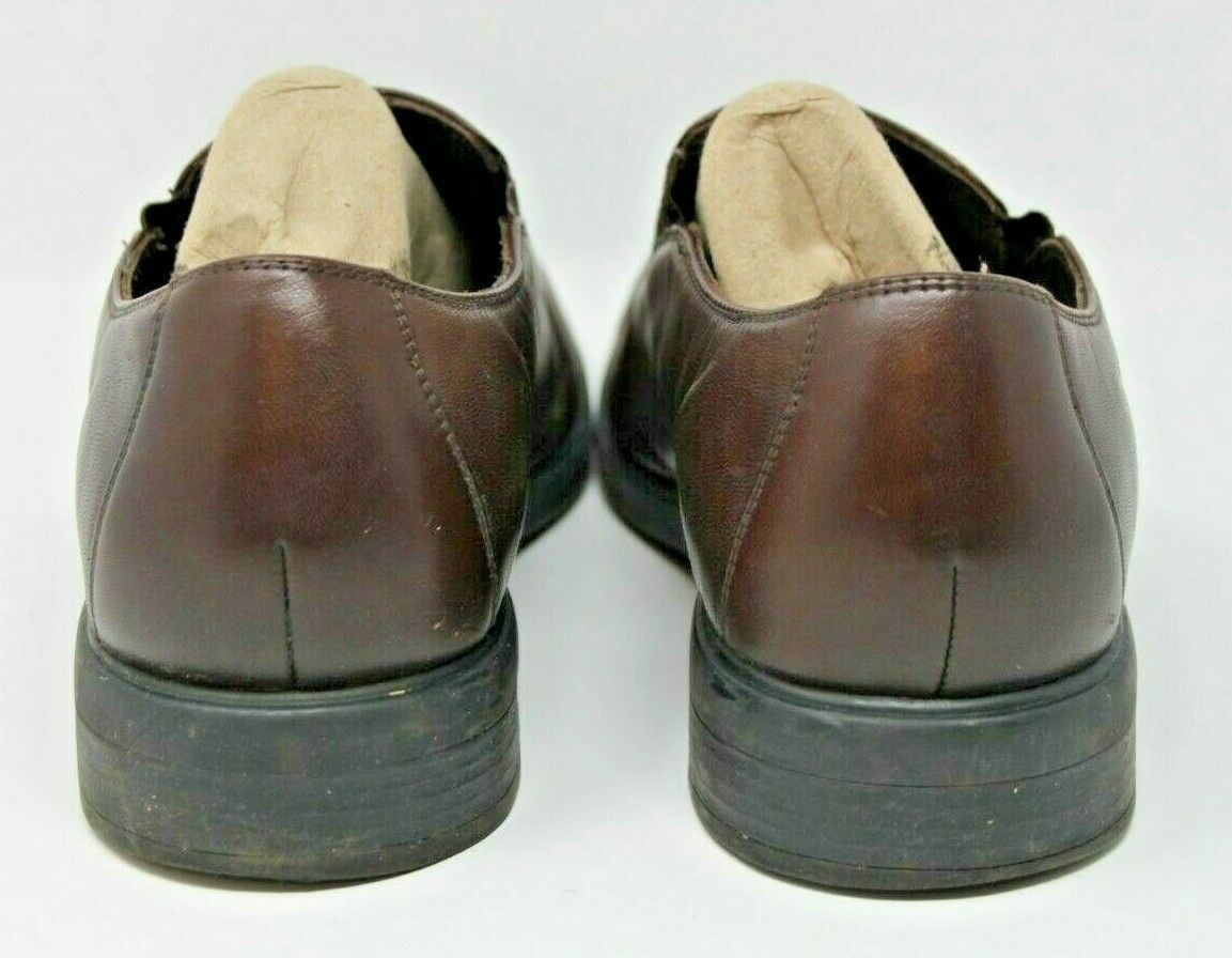 Cole Haan Size 11 M Men's NikeAir Brown Leather Slip On Loafer Shoes Dress
