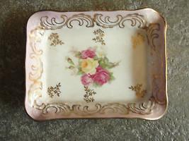 Schumann Arzberg, Germany, ceramic trinket dish, ashtray, flowered, old - $26.51