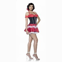 Queen of Hearts Sexy Adult Halloween Costume Size S/M 4-8 by 7 Til Midni... - $49.45