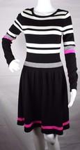 Vince Camuto women's sweater dress long sleeve white black size XS - $22.15