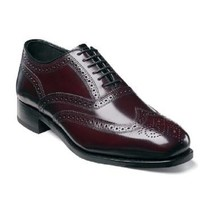 Florsheim Lexington Men Dress Shoes Wingtip Leather Burgundy 17066-05  - $115.00